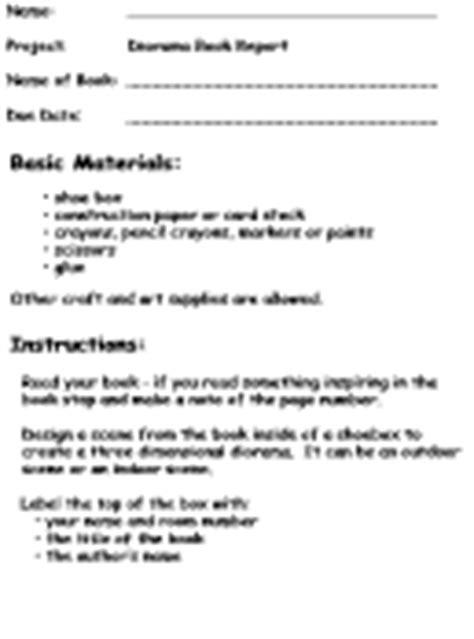 printable diorama instructions make a diorama