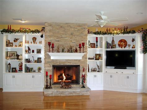 Built In Wall Units With Fireplace by Built In Cabinets Around Fireplace Give Special Accent To