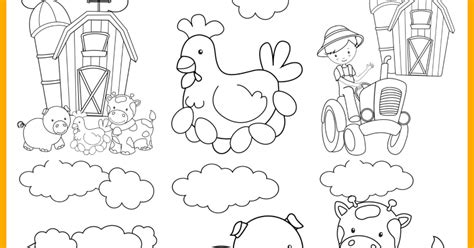 farm coloring page farm animal printable colouring pages