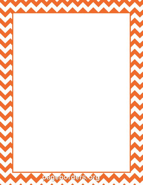 border color orange chevron border preschool ideas chevron borders
