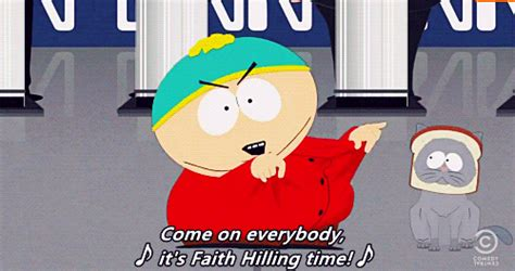 Faith Hilling Meme - south park takes on catbreading and other memes