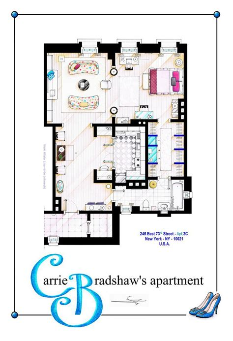carrie bradshaw apartment floor plan carrie bradshaw apartment version poster by nikneuk on deviantart