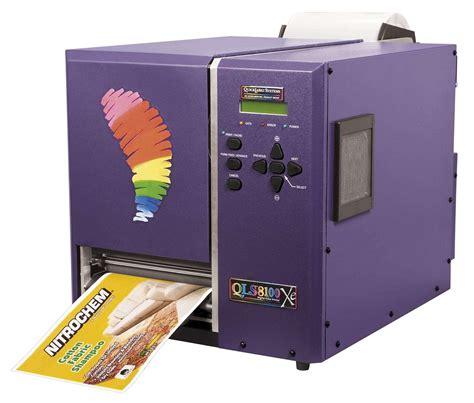 color label printer qls 8100 xe color eight inch label printer widens