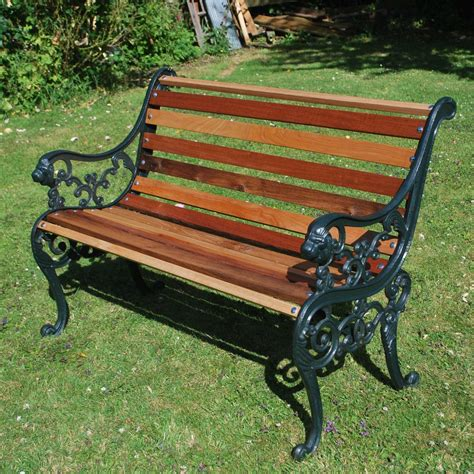 cast bench antiques atlas small cast iron garden bench