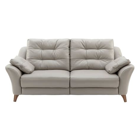 plan sofa g plan pip 3 seater sofa in leather at smiths the rink