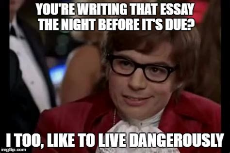Essay Memes - youre writing that essay the night before its due i too