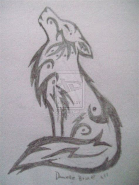 sketches of tribal tattoos tribal howling wolf sketch by deviouslydani on deviantart