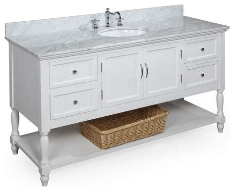 Bathroom Vanities 60 Single Sink by Beverly 60 In Single Sink Bath Vanity Carrara White Transitional Bathroom Vanities And