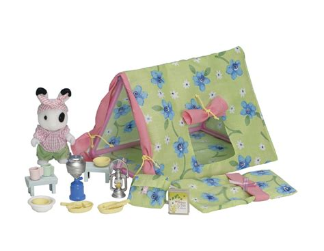 sylvanian families ingrids camping set toy  mighty ape nz