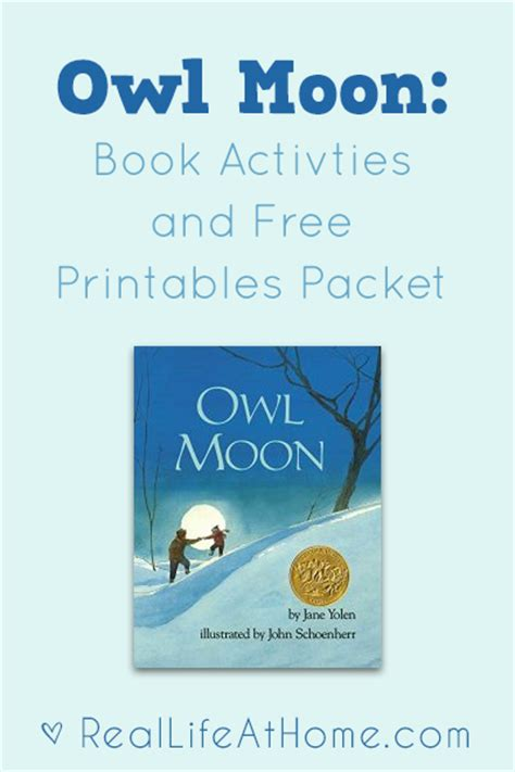 owl moon activities and free printables real at home