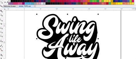 membuat outline text corel draw cara membuat typography text di coreldraw ver 2 bangtax