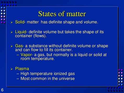 Density At Room Temperature by Chapter 3 Matter Properties And Changes