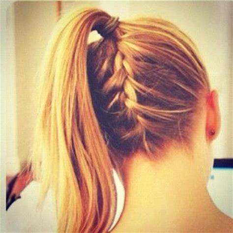 braids abd then hanging down braid high ponytail hairstyles how to