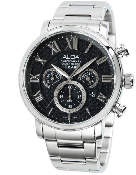Alba As9293x1 Stainless Steel Mens Watches buy alba for stainless steel chronograph at3559x watches ksa souq