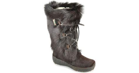 pajar fur boots pajar fur boot in brown lyst
