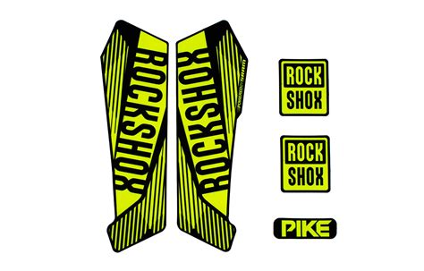 Rock Shox Judy Xc Aufkleber by Commencal 2016 Kit Sticker Rock Shox Pike 2016 Jaune Fluo