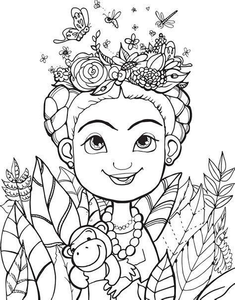 frida coloring pages coloring pages