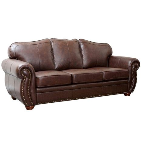 Abbyson Leather Sofa Abbyson Living Pearla 3 Leather Sofa Set In Truffle Ci D320 Brn 3 1 4