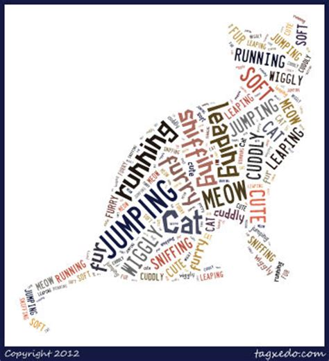 words to describe dogs with tagxedo and shape poems trails