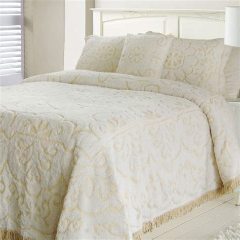 queen size bed spreads jessica chenille white linen queen size bedspread