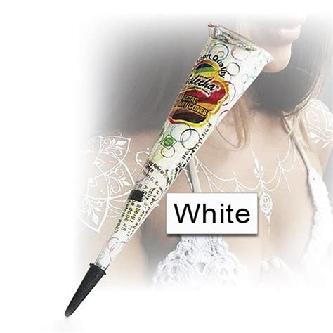 white henna tattoo kit white henna cones makedes