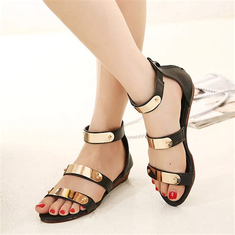 black and gold sandals black and gold gladiator sandals on luulla