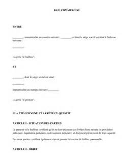 exemple contrat de bail commercial document type pdf