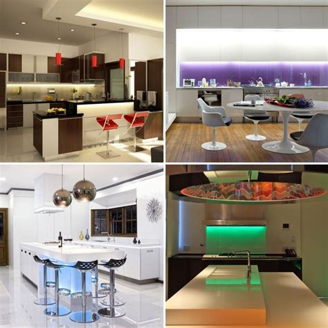 Led Lights For Kitchen Under Cabinet Lights rgb colour changing under cabinet kitchen lighting