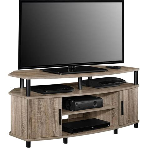 corner media console corner tv stand media console for flat screens sonoma oak