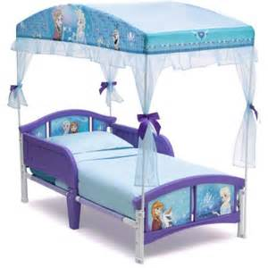 Frozen Toddler Bed With Canopy Delta Children Disney Frozen Toddler Canopy Bed Walmart