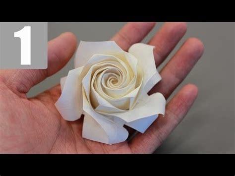 origami rose tutorial youtube part1 3 how to fold naomiki sato origami rose pentagon