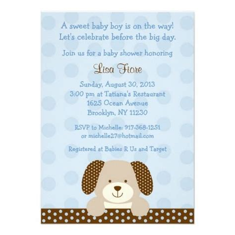 Puppy Baby Shower by Puppy Baby Shower Invitations