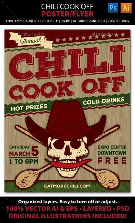 chili cook flyer template chili cook competition poster flyer or ad chili cook cook and flyers