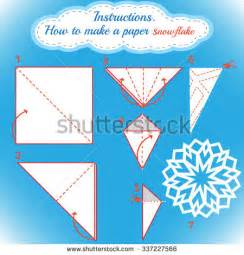 How To Make A Snowflake Out Of Paper - how to make paper snowflake tutorial