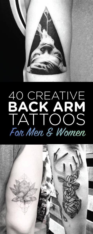 tattoo ideas back of arm 40 creative back arm tattoos for men women tattooblend