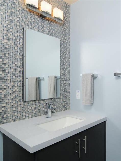 Bathroom Backsplash Designs by Mosaic Tile Bathroom Backsplash Design Wall Mirror Washstand