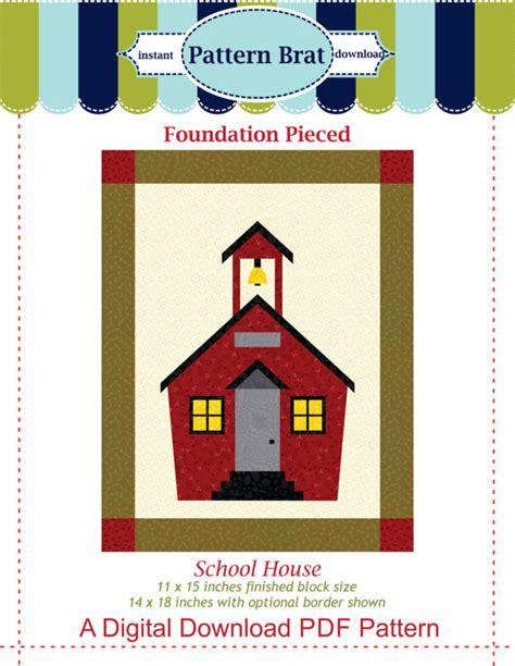 school house quilt block pattern paper pieced by patternbrat