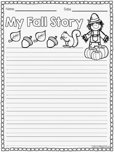 fall writing template primary chalkboard monsterous giveaway and a freebie for