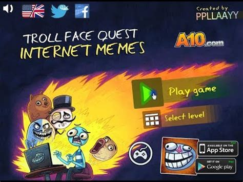 trollface quest internet memes puzzle game youtube