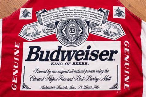 printable budweiser label budweiser tank top bottle label full print shirt vintage 90s