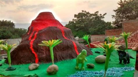 era delos dinosaurios maqueta de volc 225 n de la era de los dinosaurios hecho en