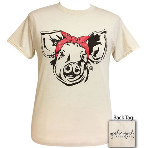 paisley bandana pig natural short sleeve girliegirloriginals
