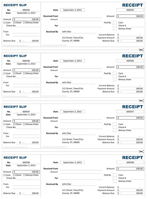 receipts template excel receipt free receipt template for excel