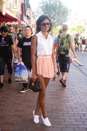 white laced keds shoes pink polka dot romwecom shorts