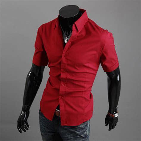 s luxury stylish casual button sleeve slim fit dress shirts tops ebay