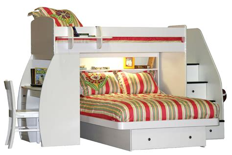 furniture l shaped size bunk bed with desk and