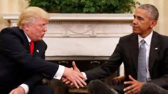 Off White Writing Desk Obama Trump Meet At White House Discuss Transition Of