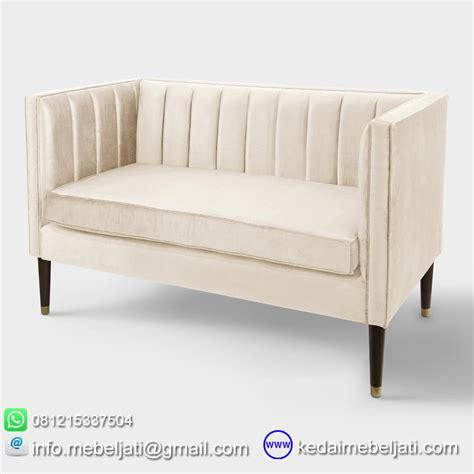 Sofa Jati beli sofa loveseat minimalis 2 dudukan kayu jati harga