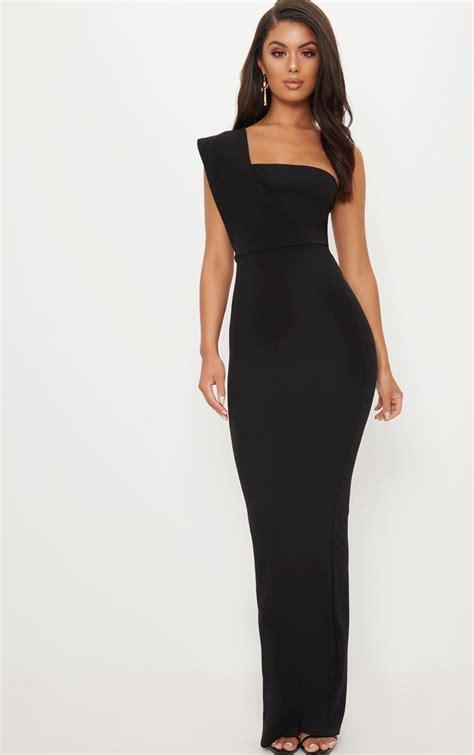 black  shoulder maxi dress dresses