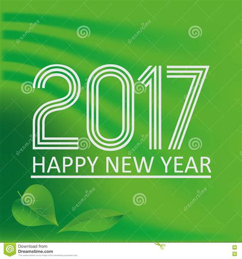 new year color green happy new year 2017 on green abstract color background